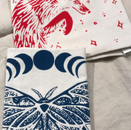 Tea Towels hand printed