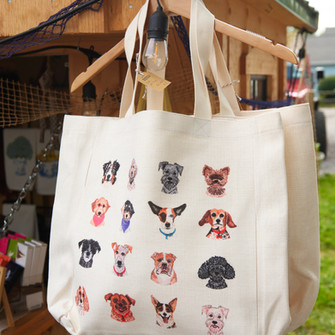 Many Dogs Tote