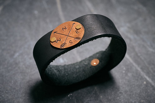 Compass North West Leather Cuff