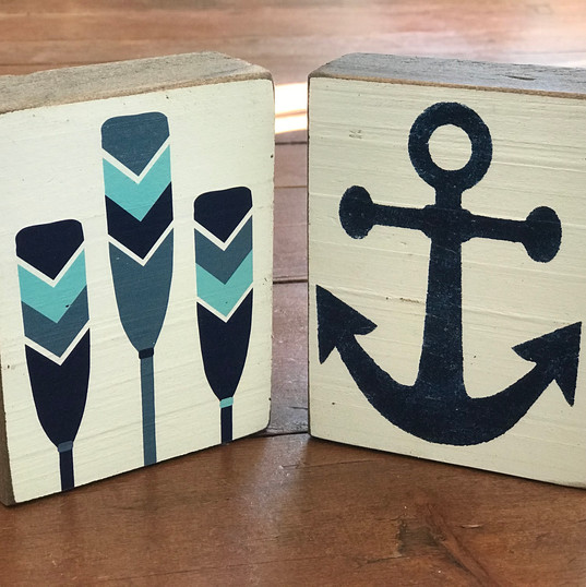 Nautical Rustic Block