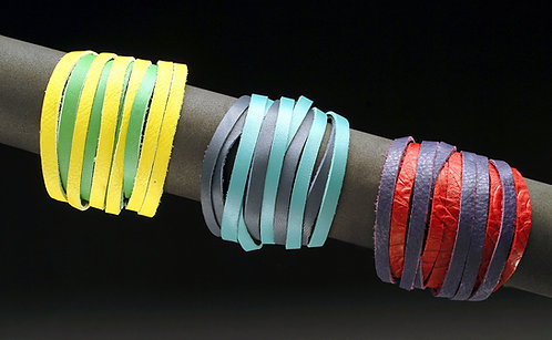 Duo Colored Leather Bracelet