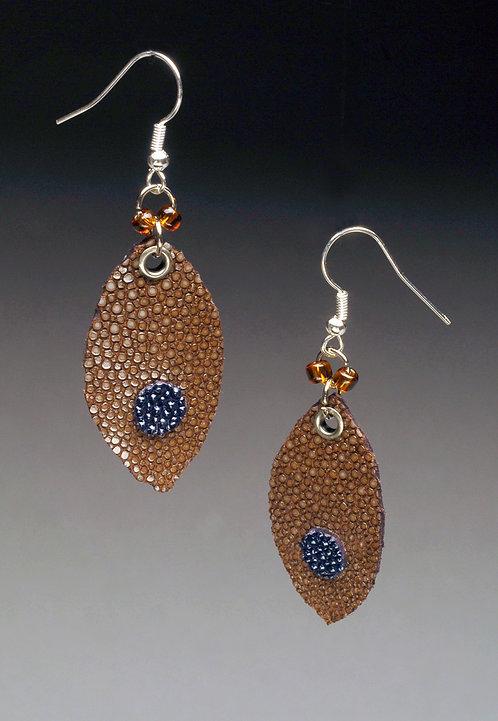 Leather Stingray Earrings
