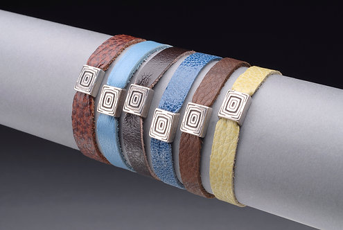 Leather Bracelet With Small Concho