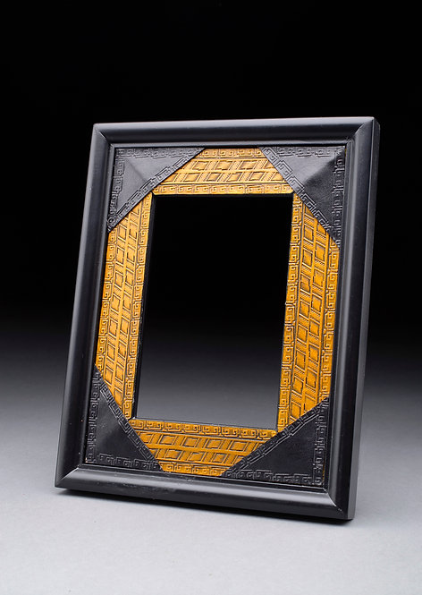 Leather Hand Tooled & Dyed 5X7 Photo Frame