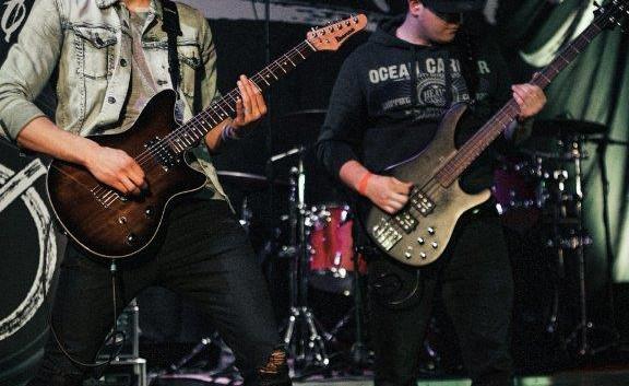 Chris und Lukas on stage