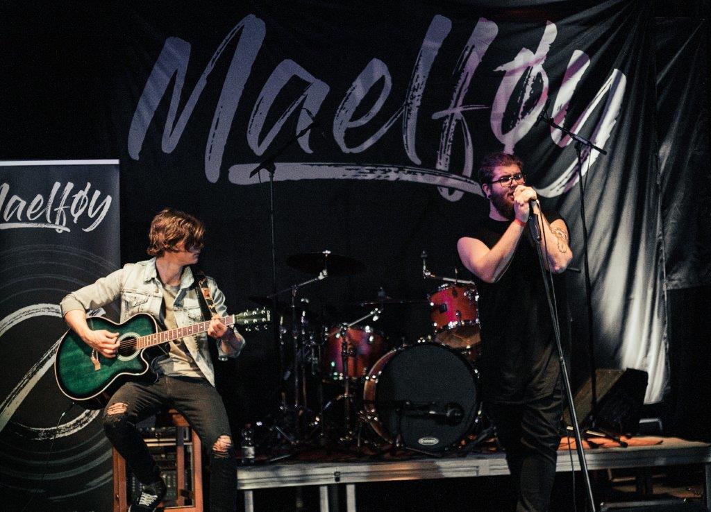 Marne und Lukas on stage