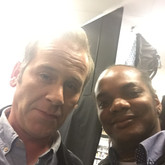 """With the actor Jason Thorpe during the production of an advertising spot . Who has worked in film that I like a lot like """"Fast & Furious"""" 6 and also tv series like """"Poldark"""" and """"Sense8""""."""