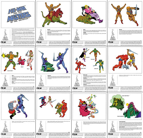 Filmation style sheets SET of 12 prints