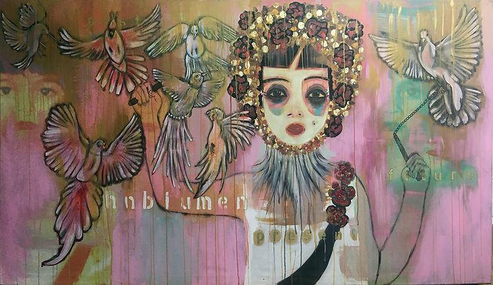 Mohnblumen 100x180cm Acrylic on canvas 2