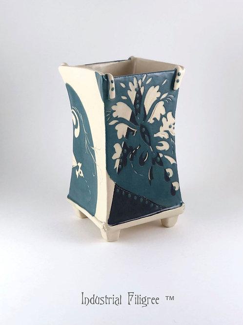 Industrial Filigree Vase