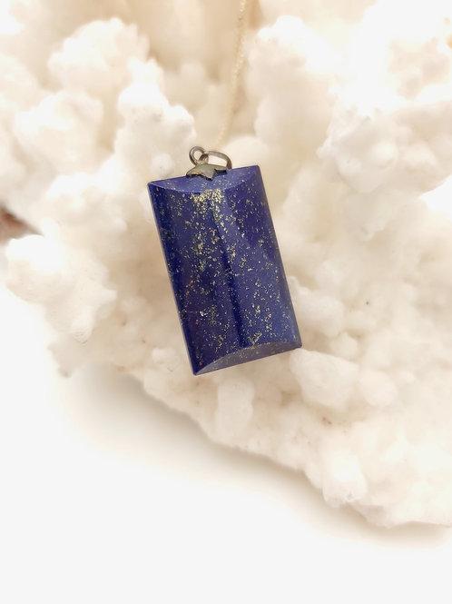 Rough-cut Lapis Lazuli Necklace