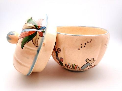 Vintage Tlaquepaque Lidded Bowl