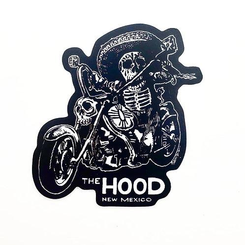 Calavera Rider Vinyl Decal