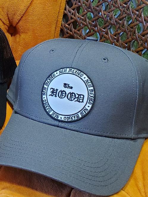 Hood Round Logo Ball Cap, White Outline