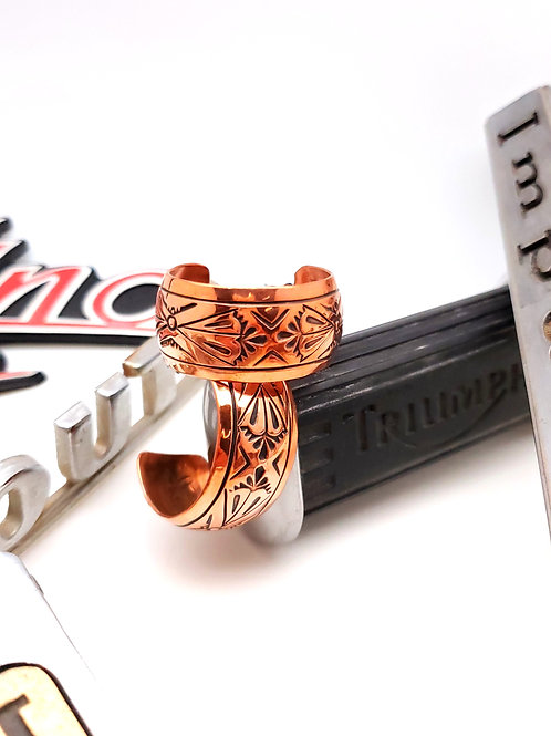 Stamped Copper Hoops