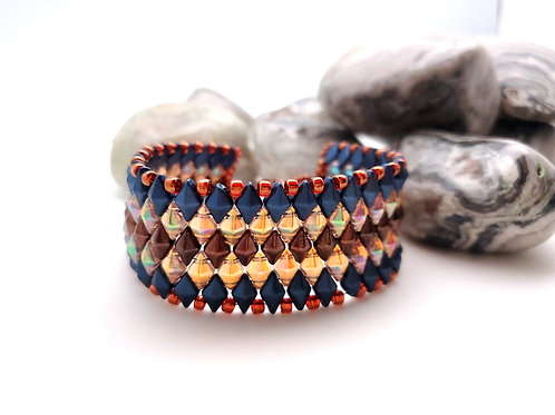 Beaded Bracelet, Diamond Weave