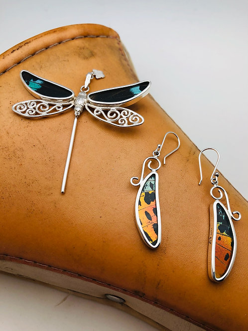 Sterling and Butterfly Wing Set