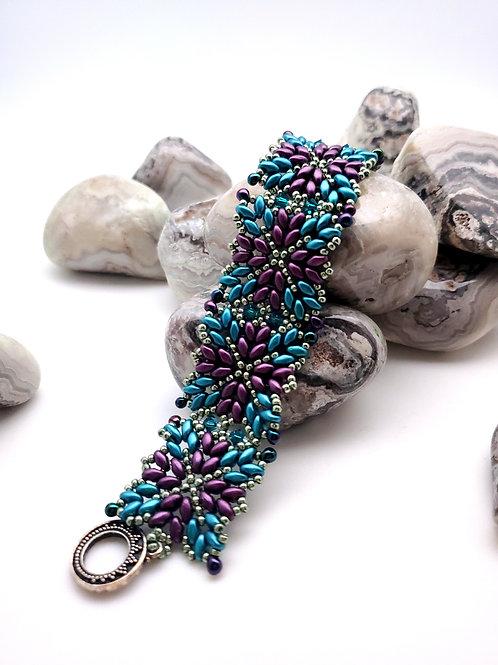 Beaded Bracelet, Star Weave