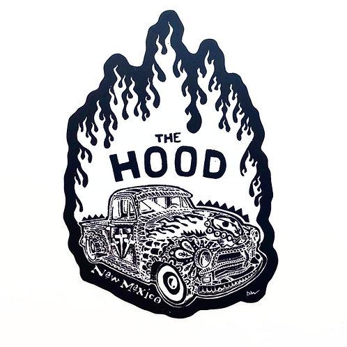 Flaming Hot Rod Vinyl Decal