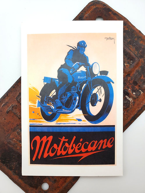 Motobecane Vintage Style Post Card