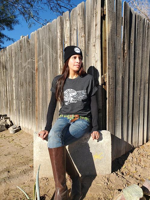 Heather Black Skull Helmet