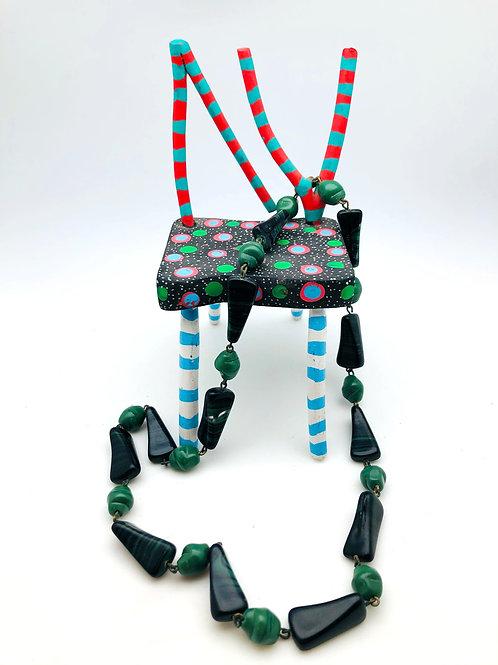 Malachite and Jade Necklace
