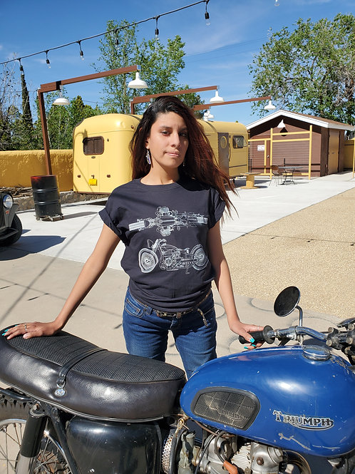 Motorcycle Blueprint T-Shirt