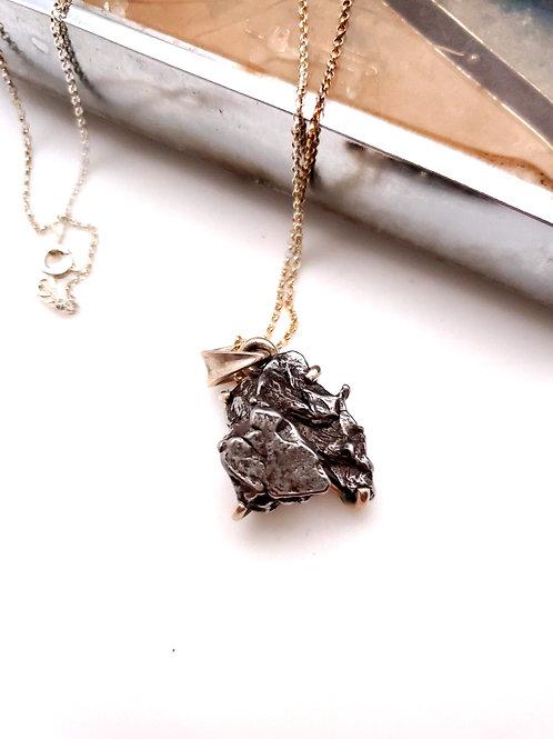 Meteorite Pendant with Chain