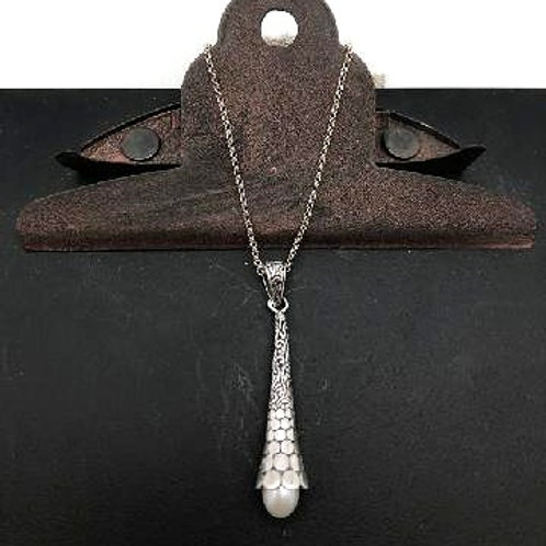 Sterling and Pearl Drop Set