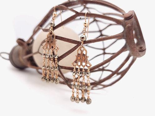 1880's Victorian Era Pirite Earrings