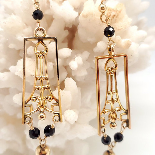 Black Tourmaline Drop Earrings
