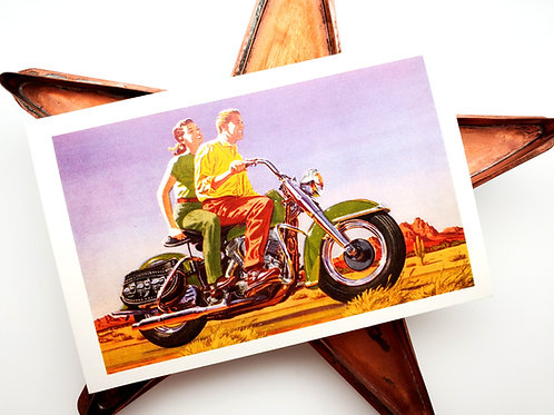 Classic Ride Vintage Style Post Card