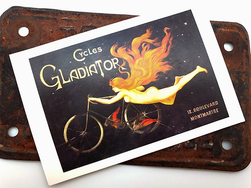 Cycles Gladiator Vintage Postcard
