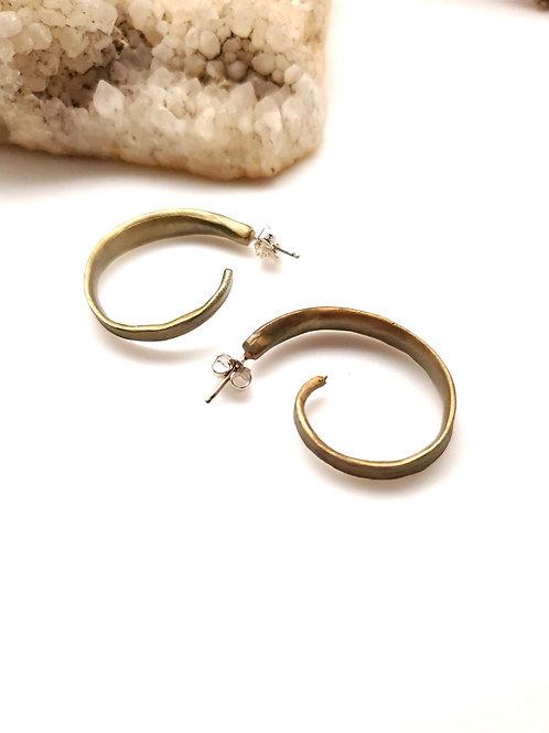 Michael Michaud Leaf Earrings