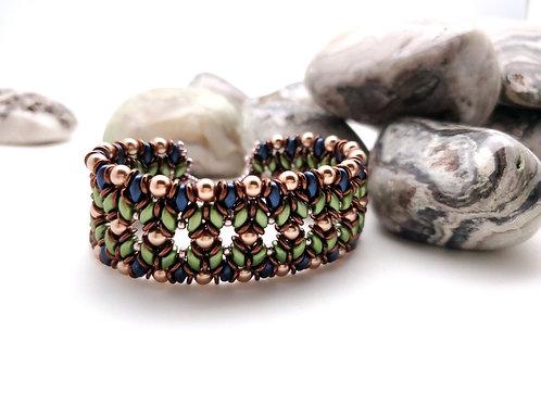 Beaded Bracelet, Bow Tie Weave