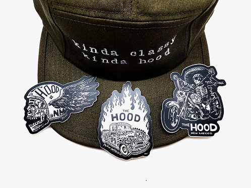Hood Vinyl Sticker Pack, Variety