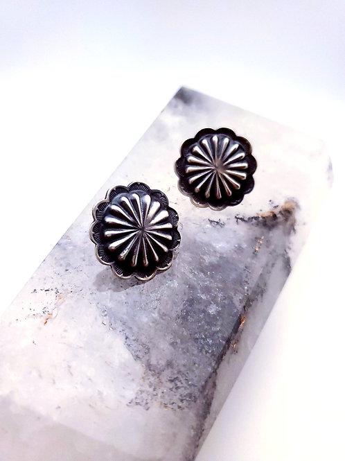 Stamped Post Earrings