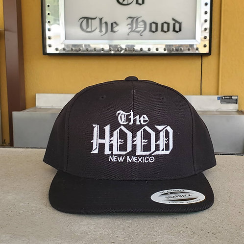 Black The Hood Old English Cap