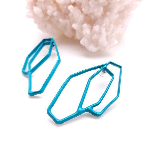 Turquoise Diamond Studs