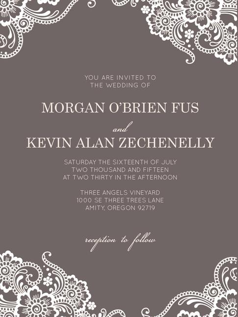 Invitation Suite   Morgan & Kevin