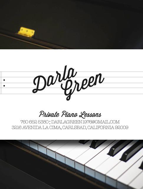 Business Card | Darla Green Piano