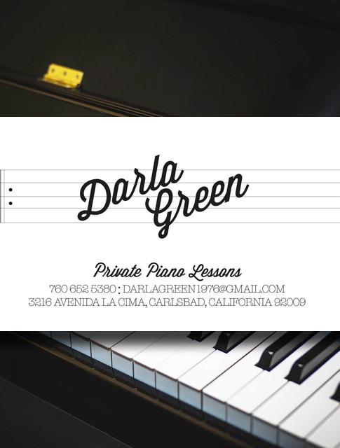 Business Card   Darla Green Piano