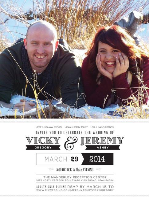 Invitation   Vicky & Jeremy