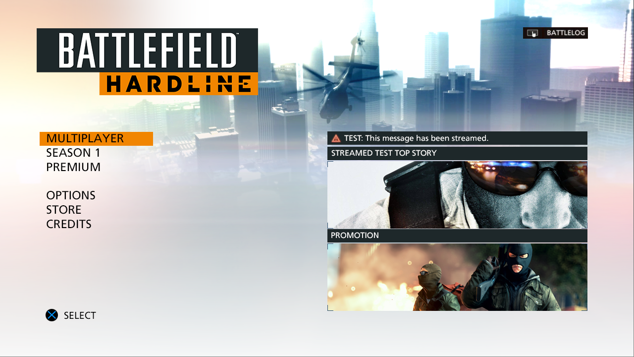Battlefield Hardline - Front End
