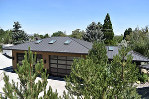 Metal roof with skylights near Reno