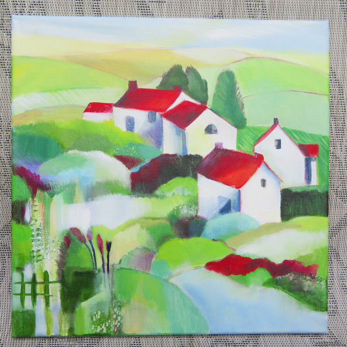 Red Roofs in the Green