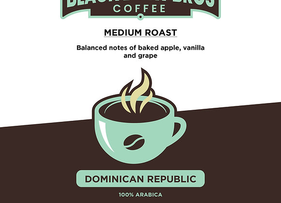 16 oz. Dominican Republic                     100% Arabica
