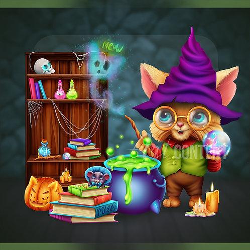 CU/PU Halloween Cat