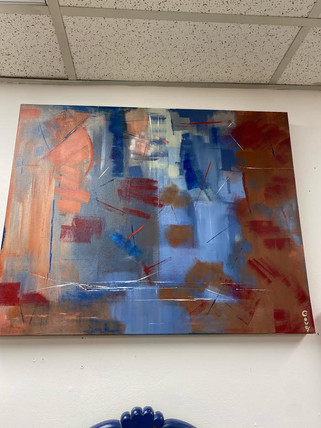 24 x 30 Abstract Painting by Local Artist John Gover