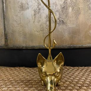 Brass Fox Door Stopper
